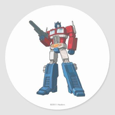 Optimus 1 classic round sticker