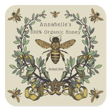 Ornate Victorian Honey Label Personalize