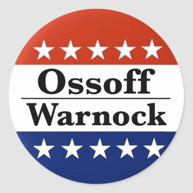 Ossoff Warnock Georgia Runoffs Classic Round Sticker