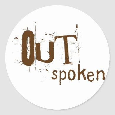 OUTSpoken Classic Round Sticker