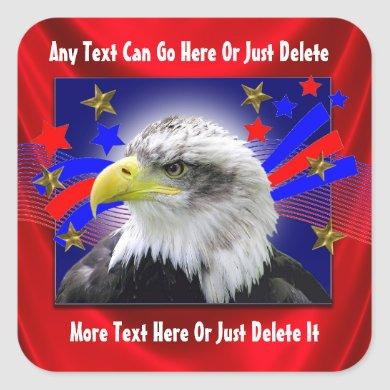 Patriotic Eagle And Gold Stars Stickers