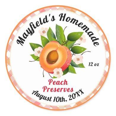 Peach Fruit Canning | Jam Jar Label