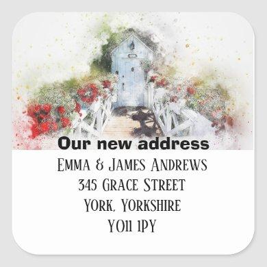Personalised New Address We've Moved Sticker