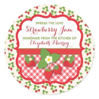 Personalize Homemade Strawberry Jam Label