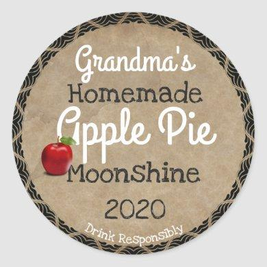 Personalized Homemade Apple Pie Moonshine Label
