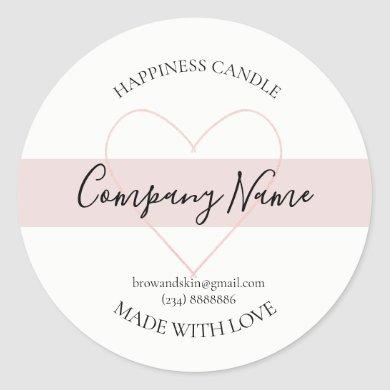 Personalized Homemade Candle Label