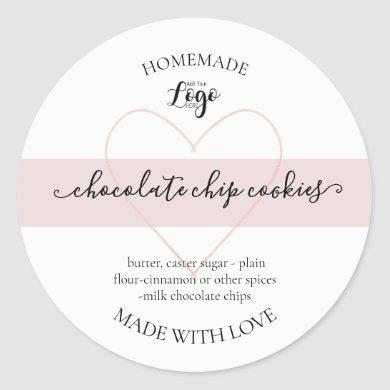 Personalized Homemade Cookies Label