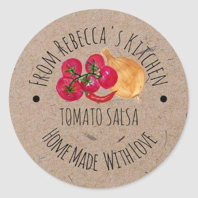 Personalized Homemade  Salsa Canning label