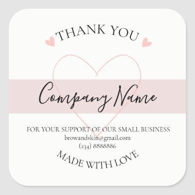 Personalized Homemade THANK YOU  Label