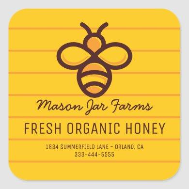 Personalized Honey Jar Labels | Honeycomb Bee