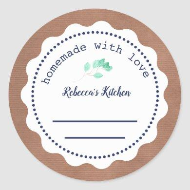 Personalized Jam Canning | Homemade  with love Classic Round Sticker