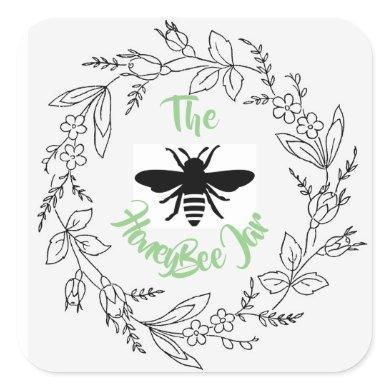 Personalized Stickers & Labels - HoneyBee Jar