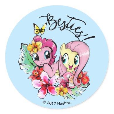 Pinkie Pie & Fluttershy   Besties Classic Round Sticker