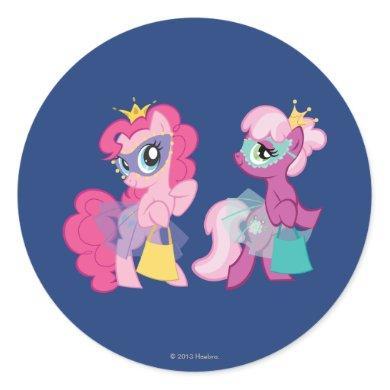 Ponies in Halloween Costumes Classic Round Sticker