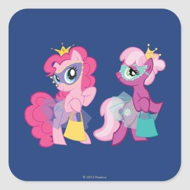 Ponies in Halloween Costumes Square Sticker