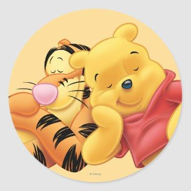 Pooh and Tigger Classic Round Sticker