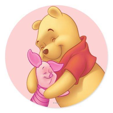 Pooh & Friends 2 Classic Round Sticker