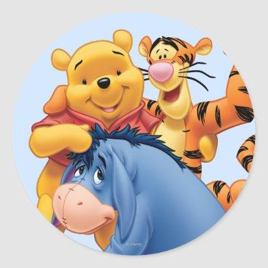 Pooh & Friends 3 Classic Round Sticker