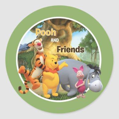 Pooh & Friends 9 Classic Round Sticker
