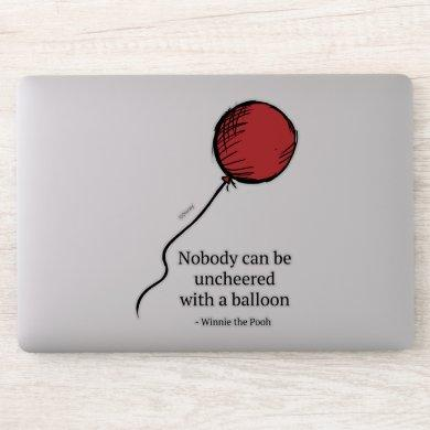 Pooh | Nobody Can be Uncheered with a Balloon 2 Sticker