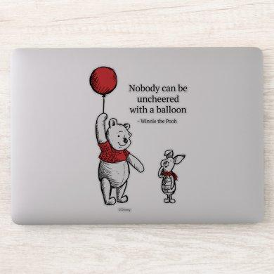 Pooh | Nobody Can be Uncheered with a Balloon 4 Sticker