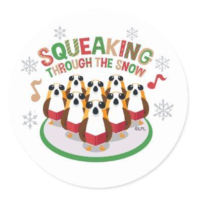 "Porg Choir ""Squeaking Through The Snow"" Classic Round Sticker"