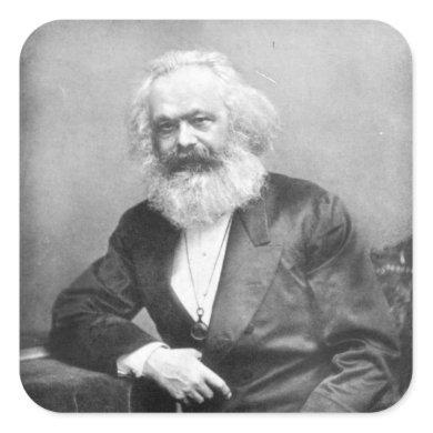 Portrait of Karl Marx Square Sticker