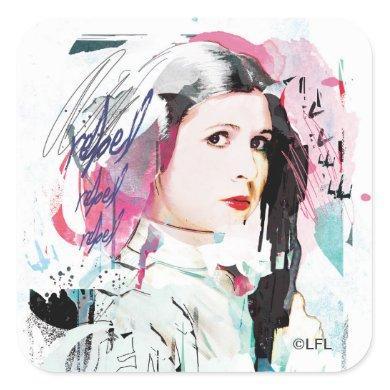 Princess Leia | Rebel Collage Square Sticker