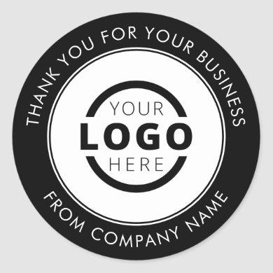 Professional Business Logo Promotional Thank You Classic Round Sticker