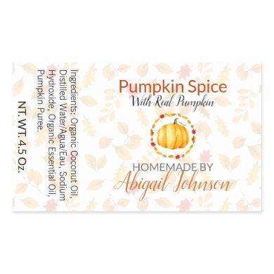 Pumpkin Spice Handmade Homemade Soap | Gift Label