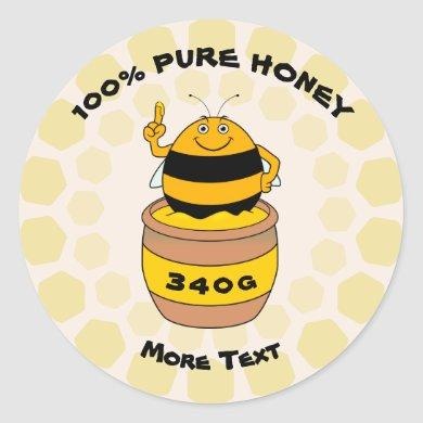 Pure Honey Classic Round Sticker