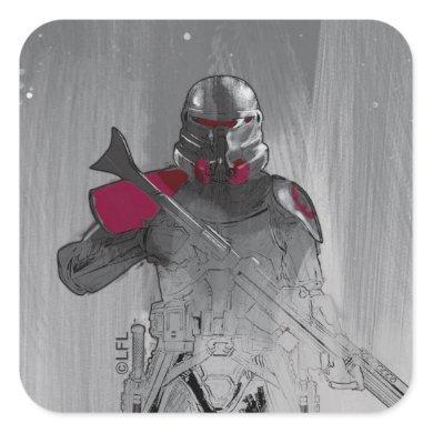 Purge Trooper Sketch Square Sticker