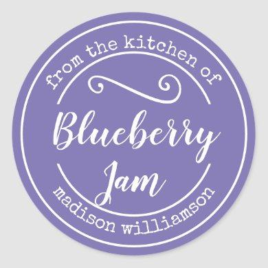 Purple From the Kitchen of | Preserve Jam Label