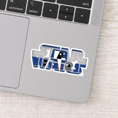 R2-D2 Star Wars Logo Sticker
