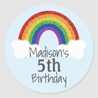 Rainbow Birthday Stickers Favor Stickers