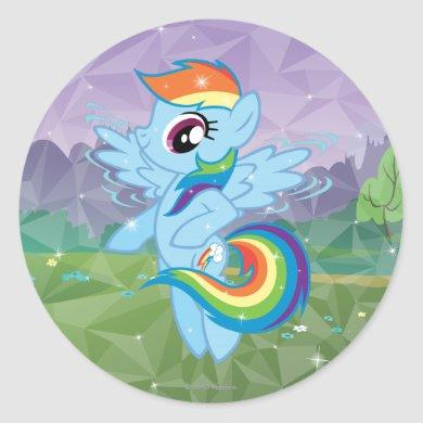 Rainbow Dash Classic Round Sticker