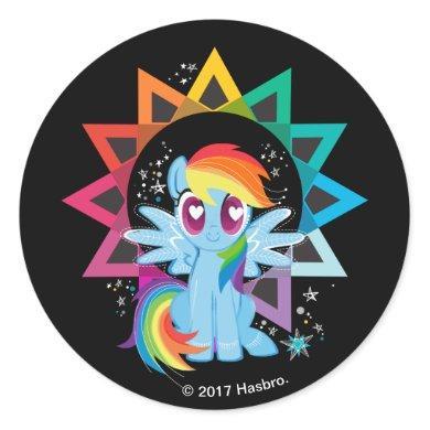 Rainbow Dash   Rainbow Powered Classic Round Sticker