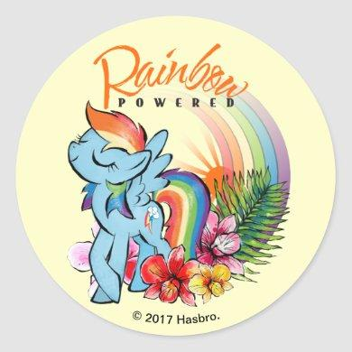 Rainbow Dash | Rainbow Powered Classic Round Sticker