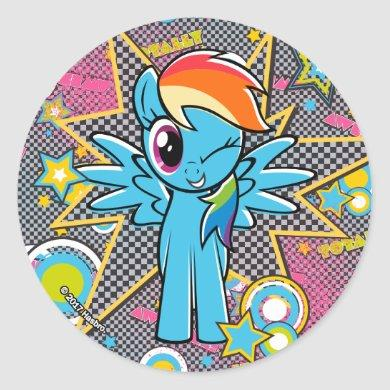 Rainbow Dash | Totally Awesome! Classic Round Sticker