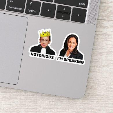 RBG Notorious Kamala Harris I'm Speaking Sticker