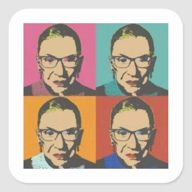 RBG Women's, Feminist, Feminist, Notorious RBG Square Sticker