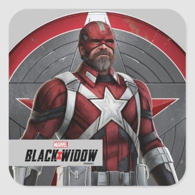 Red Guardian Character Art Square Sticker