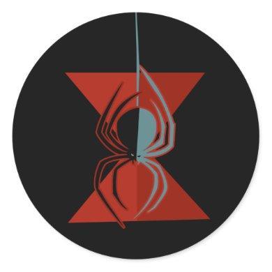Red Hourglass Spider Classic Round Sticker