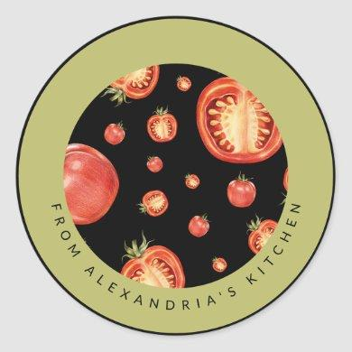 Red Tomatoes | From the Kitchen Of Classic Round Sticker