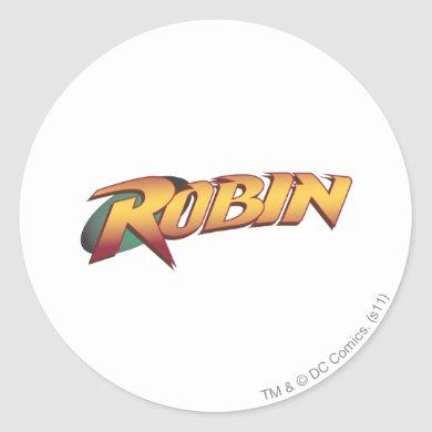 Robin Name Logo Classic Round Sticker