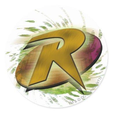 Robin -R Classic Round Sticker