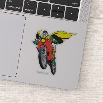 Robin Rides Sticker