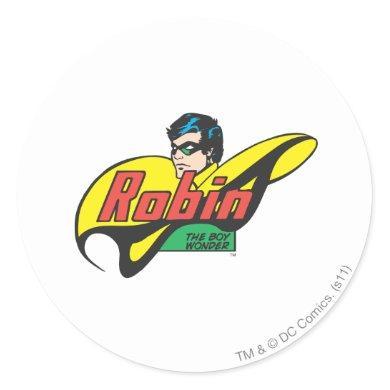 Robin The Boy Wonder Classic Round Sticker