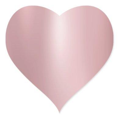 Rose Gold Modern Elegant Blank Trendy Template Heart Sticker
