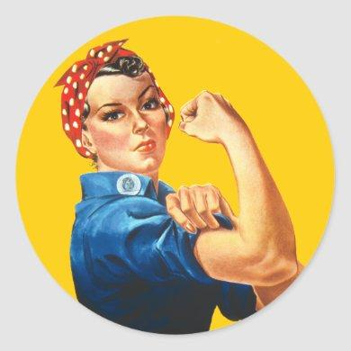 Rosie the Riveter Feminism Vintage Sticker